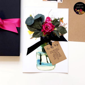 Start Personalising Your Bloom Scented Hot Pink Velvet Rose Card