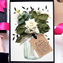 Load image into Gallery viewer, Scented ivory rose engagement bouquet card | say it with flowers | The Luxe Co