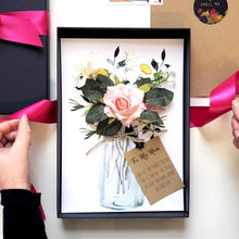 Load image into Gallery viewer, Luxury Blush pink scented rose card | The Luxe Co