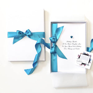 Blue zircon birthstone birthday cards | The Luxe Co
