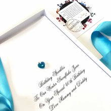 Load image into Gallery viewer, Blue zircon birthstone meaning birthday cards and gift | The Luxe co