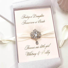 Load image into Gallery viewer, Splendid Blush Bling Gold Foil wedding Card - theluxeco.co.uk