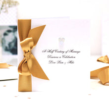 Load image into Gallery viewer, Boxed Bedazzled Swarovski Crystal Golden Anniversary Card | The Luxe Co