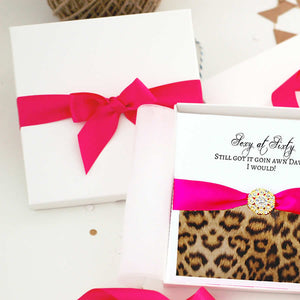 Boxed Leopard print birthday cards that are different | The Luxe Co