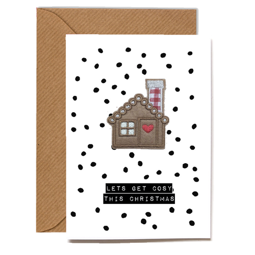 Wholesale Cards: Playful Scented Motif Cards - Gingerbread House
