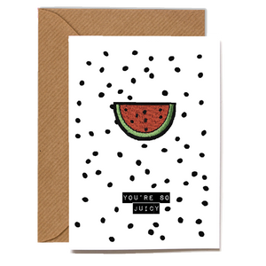 Wholesale Cards: Playful Scented Motif Cards - Melon