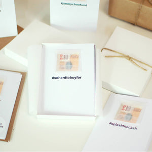 Pack of Personalised Hashtag Christmas Cash Cards