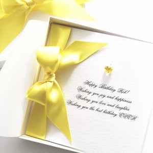 Citrine birthstone birthday card | The Luxe Co