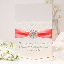Load image into Gallery viewer, Coral Opulence Luxury 35th wedding anniversary card - theluxeco.co.uk
