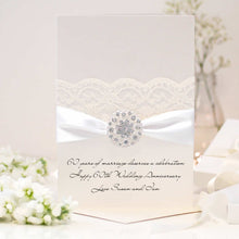 Load image into Gallery viewer, Diamond Opulence Personalised 60th wedding anniversary card - theluxeco.co.uk