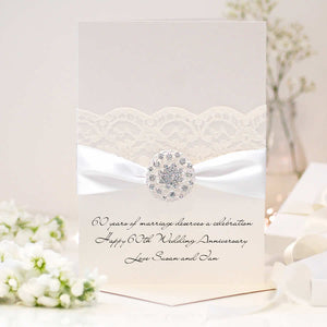 Diamond Opulence Personalised 60th wedding anniversary card - theluxeco.co.uk