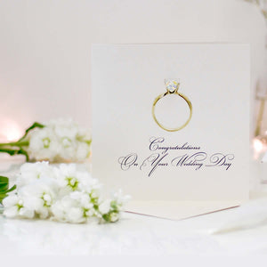 Diamond Ring Personalised Card - theluxeco.co.uk