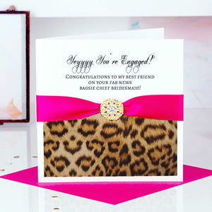 Different Engagement card Leopard - theluxeco.co.uk