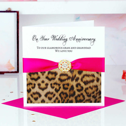 Different Wedding Anniversary card Leopard - theluxeco.co.uk