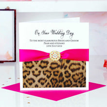 Load image into Gallery viewer, Handmade Leopard print valentines card - theluxeco.co.uk