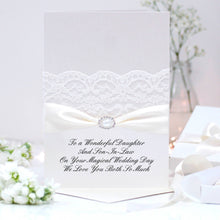 Load image into Gallery viewer, Elegant Wedding card pearl - theluxeco.co.uk