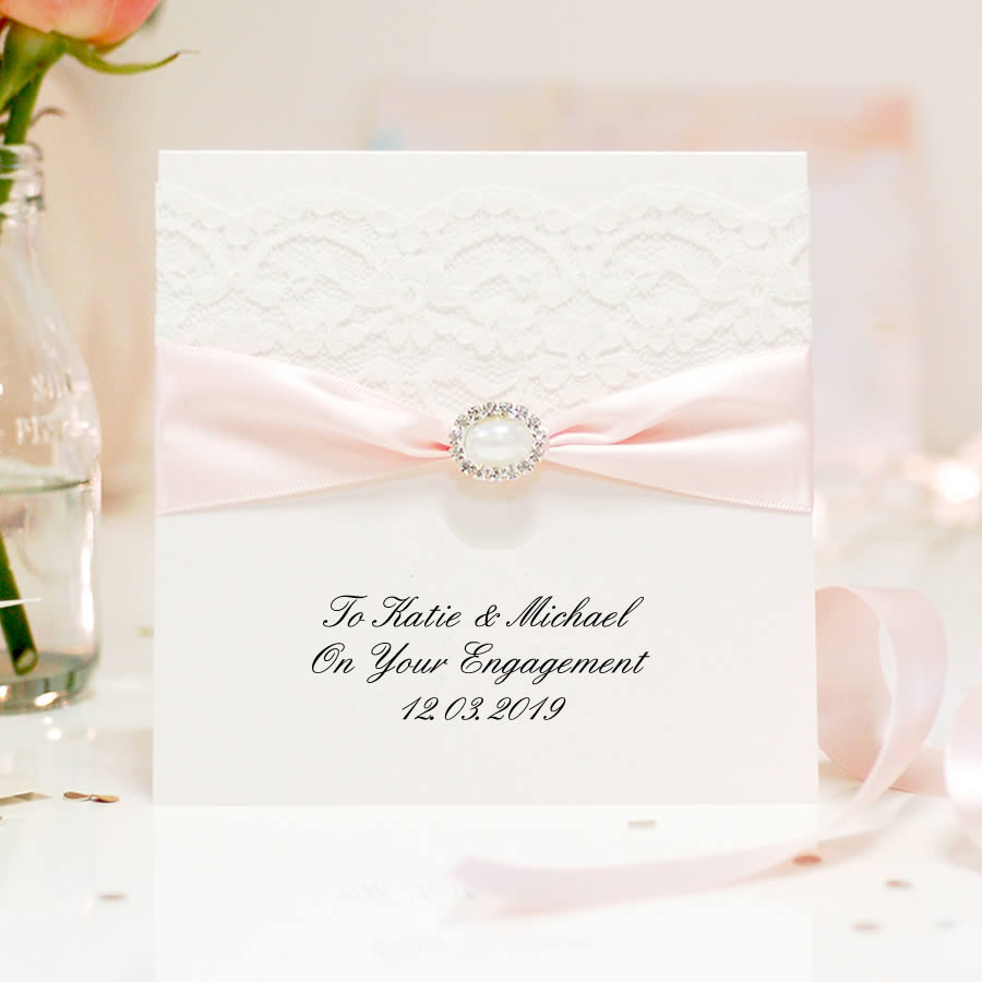 Elegant Engagement card pearl - theluxeco.co.uk