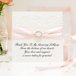 Elegant Thank you card pearl - theluxeco.co.uk