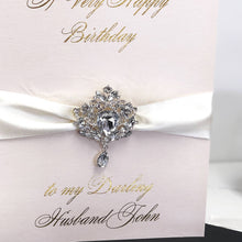 Load image into Gallery viewer, Exquisite husband birthday card with black gift box | The Luxe Co
