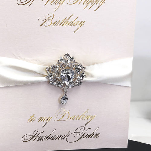 Exquisite husband birthday card with black gift box | The Luxe Co