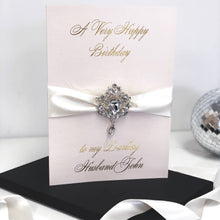 Load image into Gallery viewer, Exquisite over the top Blush bling birthday cards | The Luxe Co