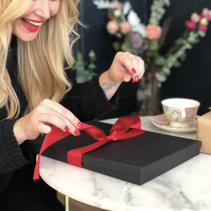 Boxed Luxurious Personalised valentines gifts and cards that are a treat to open | The Luxe Co