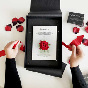 Red rose valentines day card | The Luxe Co