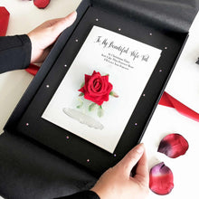 Load image into Gallery viewer, Luxury Boxed rose cards for valentines day | The Luxe Co
