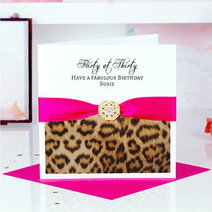 Leopard print birthday cards | The Luxe Co