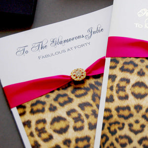 Different Leopard print birthday cards | The Luxe Co