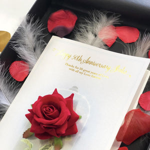 Super special red rose Ruby anniversary cards