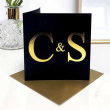 Load image into Gallery viewer, Black and Gold Valentines Cards | The Luxe Co