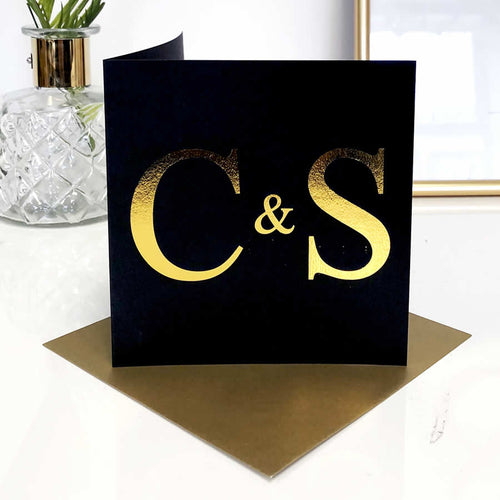Black and Gold Valentines Cards | The Luxe Co