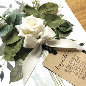 Personalised Scented cards for funerals bereavements loss by The Luxe Co
