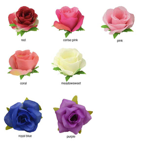Choose your silk rose colour for your handmade roses card | The Luxe Co handmade greetings cards