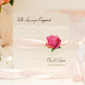 Personalised Flower engagement cards