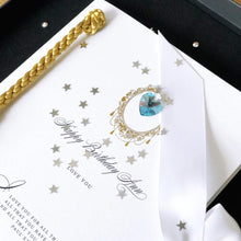 Load image into Gallery viewer, Birthstone Luxe Tassle March Gift Boxed Card