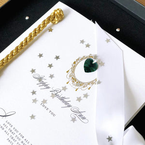 Birthstone Luxe Tassle Gift Boxed Card