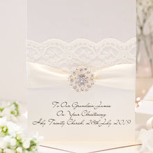 Load image into Gallery viewer, Luxury Large Opulence personalised christening cards | The Luxe Co