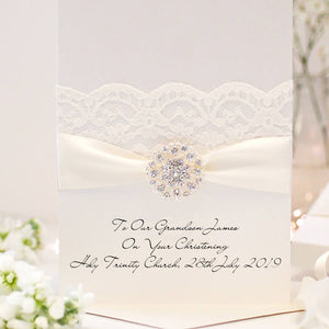 Luxury Large Opulence personalised christening cards | The Luxe Co