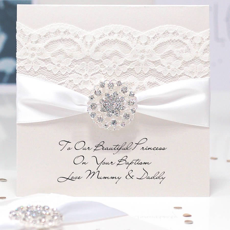 Opulence luxury personalised christening cards | The Luxe Co