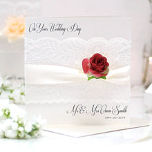 Load image into Gallery viewer, Personalised Flower Rose Card | The Luxe Co