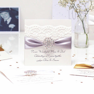 Opulence Luxury personalised wedding anniversary cards | The Luxe Co