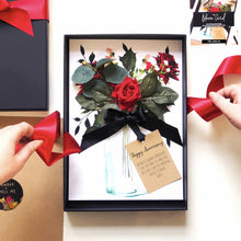 Load image into Gallery viewer, Scented Ruby Red Rose Boxed Wedding anniversary Card - theluxeco.co.uk