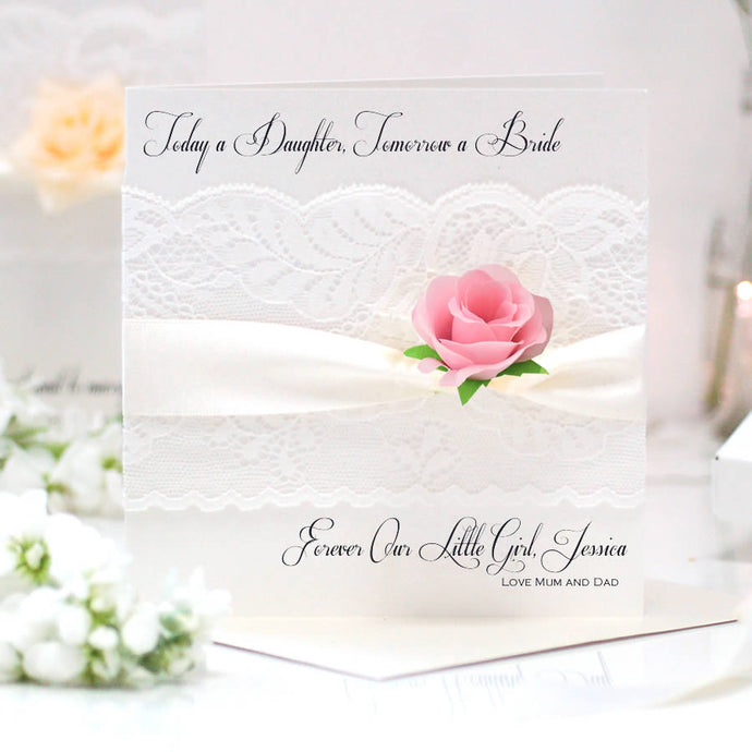 Boxed Lace and Rose Cards | The Luxe Co