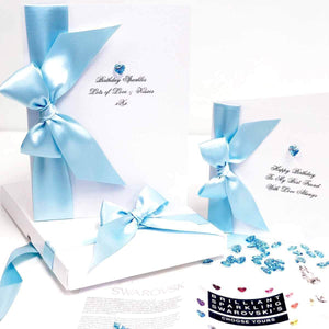 Aquamarine birthstone birthday card | The Luxe Co