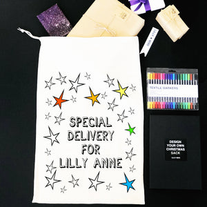 Colour Your Own Personalised Santa Sack