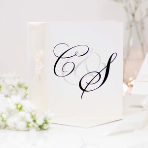Monogram Personalised Initials Cards - theluxeco.co.uk