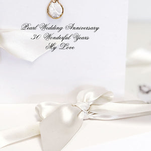 Natural Pearl and Gold Boxed Anniversary Card