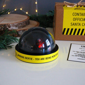 Santa surveillance camera - personalised with childs name - santa is watching!